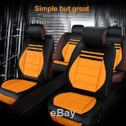 Deluxe 5-Sits Car Seat Covers Cushion Protect Universal For 2018-2020 RAV4 Camry