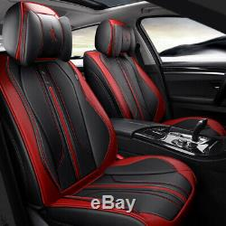Deluxe Car Seat Covers RED And Steering Wheel Sets Cushion Protector Full Set