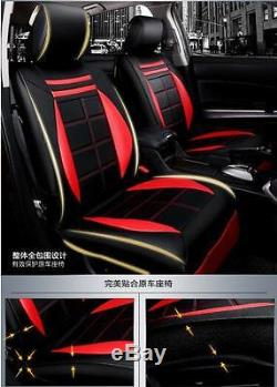 Deluxe Seat Cover Steering Wheel Full Set Cushion 5-Sit For Interior Accessories