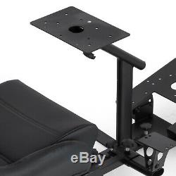 Driving Simulator Cockpit Racing Seat With Steering Wheel Stand & Gear Mount Kit