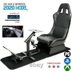 Evo-lution Simulator Cockpit Steering Wheel Stand Racing Seat Gaming Chair New