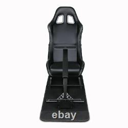 Evolution Simulator Cockpit Steering Wheel Stand Racing Seat Gaming Chair in USA
