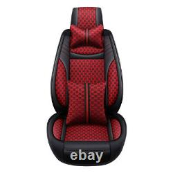 Fashion Linen & Leather Luxury Car Seats Cover Universal Auto Decor Cushion Set