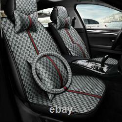 Fashion SUV Car Five-Seats Cover PU Leather Protector Cushion Full Set Universal
