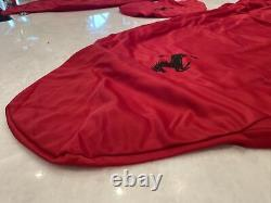 Ferrari Genuine Red Seat And Steering Wheel Covers With Carrying Bag