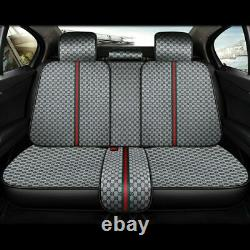 Five-Seats Car Seat Cover withSteering Wheel Cover Cushions Fashion Auto Interior