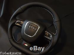 Flat bottom steering wheel paddle shifters AUDI A3 A4 A5 S4 S5 A6 S6 SEAT S-line