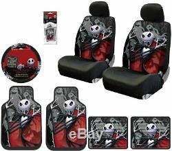 Floor Mat Seat Covers Steering Wheel Cover 10 Piece Nightmare Before Christmas