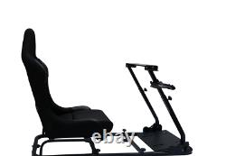 Folding Driving Games Sim Chair Racing Seat Console PC VR Gaming Steering Wheel