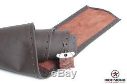 For 2009-2012 Dodge Ram 1500 2500 3500- Leather Wrap Steering Wheel Cover, Brown