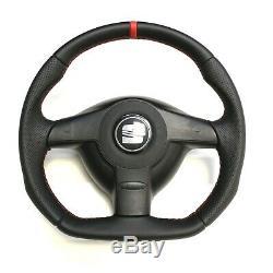 Full Reshaped Steering Wheel Vw Golf 4 Gti R32 Bora Seat Leon Cupra Flat Bottom