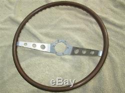 GM 2 Spoke Wood Steering Wheel 1964-1966 Corvair Nova 16 Inch NO CRACKS SURVIVOR