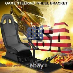 Game Driving Seat Frame Cockpit Racing Simulator Steering Wheel Support Frame US