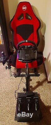 Gaming Racing Seat ONLY. Includes mounts for pedals, steering wheel, & shifter