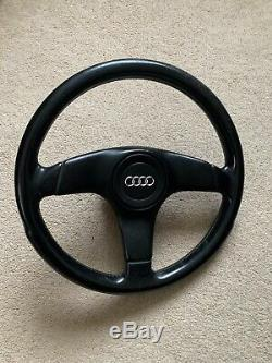 Genuine Audi 80 90 B3 B4 S2 Coupe Cabrio 3 Spoke Leather Sport Steering Wheel