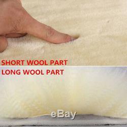 Genuine Australian Sheepskin Fur Car Seat Cover+Steering Wheel+Gear Shift Cover