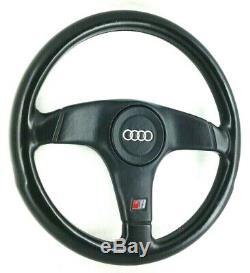 Genuine Nardi Audi S4 black leather steering wheel. OEM S2 Avant Quattro etc. 7B