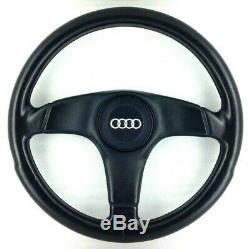 Genuine Nardi Audi black leather steering wheel. OEM S2 Coupe Avant 80 etc. 8A