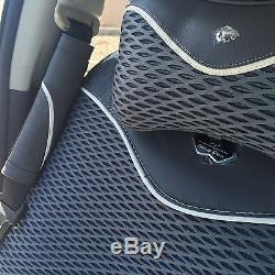 Grey Breathable Style Cloth Seat Cover Cushion Shift Knob Steering Wheel 42001b