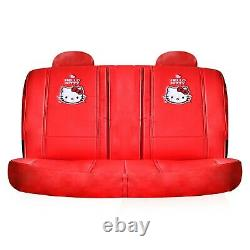 Hello Kitty Limited Edition Car Set front + rear seat covers + steering wheel