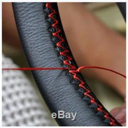 High Quality Genuine Leather DIY Car Steering Wheel Cover With Needle and Thread