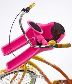 Ibert Safe Seat Child Baby Bike Seat Model With Steering Wheel Pink. 2nd