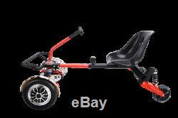 LED Hoverkart GoKart Adjustable Racing Seat Steering Wheel Racer Kart Suspension