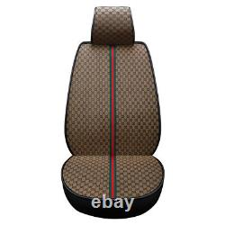 Leather Car Seat Cover Cushion Luxury Protector Front Rear Universal Accessories