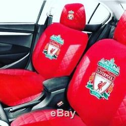 Liverpool Fc Car Seat Cover Set X 2 + Steering Wheel Cover + Seat Belt Covers