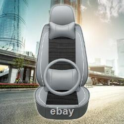 Luxury 5-Sit Car Seat Covers Universal Cushion Interior withSteering Wheel Cover