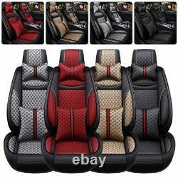 Luxury Car Seat Cover Full Set 5-Seat Front &Rear Universal Cushion Protector US
