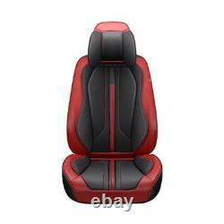 Luxury PU Leather Car SUV Seat Covers Set Universal WithSteering Wheel US