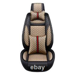 Luxury PU Leather Car Seats Cover Universal 5-Sits Cushions Decor For SUV Truck