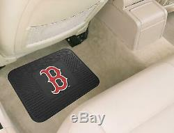 MLB Boston Red Sox Car Truck Floor Mats Seat Covers & Steering Wheel Cover Set
