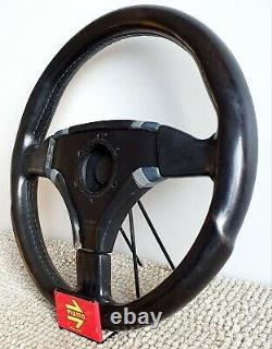 MOMO Cobra Oettinger leather steering wheel vintage VW Audi Seat Skoda RARE