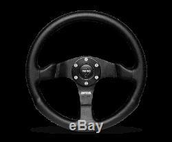 MOMO Steering Wheel Competition 350 Diam 40 Dish Black Airleather Black Spokes