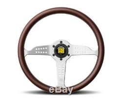 MOMO Steering Wheel Grand Prix 350 Diam 37 Dish Mahogany Wood Brshd Spokes