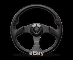MOMO Steering Wheel Jet 320 Diam 42 Dish Black Airleather Black Spokes