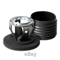 MOMO Steering Wheel MOD. 08 350 Diam 88 Dish Black Suede Black Spokes 1 Stripe