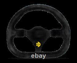 MOMO Steering Wheel MOD. 27 290 Diam 0 Dish Black Suede Black Spokes