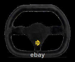 MOMO Steering Wheel MOD. 29 270 Diam 0 Dish Black Suede Black Spokes