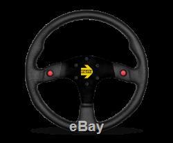 MOMO Steering Wheel MOD. 80 350 Diam 33 Dish Black Leather Black Spokes