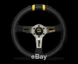 MOMO Steering Wheel MOD. DRIFT 330 Diam 88 Dish Black Suede Anth Spokes 2 Stripes