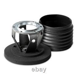 MOMO Steering Wheel Montecarlo 350 Diam 40 Dish Blk Leather Blk Stitch Blk Spoke