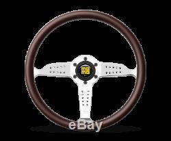 MOMO Steering Wheel Super Grand Prix 350 Diam 37 Dish Mahogany Wood Pol Spokes