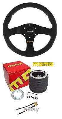 Momo Team Black 300mm Steering Wheel and Momo boss Seat Leon Mk2 05-13
