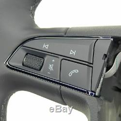 Multifunction steering wheel Seat Ateca Ibiza Leon 5F Toledo IV KG leather black