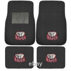 NCAA Alabama Crimson Tide Floor Mats Seat Covers Steering Wheel Cover 10pc Set