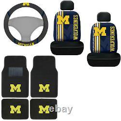 NCAA Michigan Wolverines Car Truck Floor Mats Seat Covers & Steering Wheel Cover