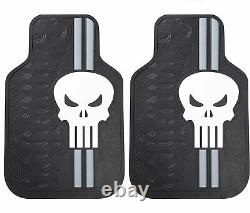 NEW 9pc Marvel Punisher Car Truck Floor Mats Seat Covers &Steering Wheel Cover